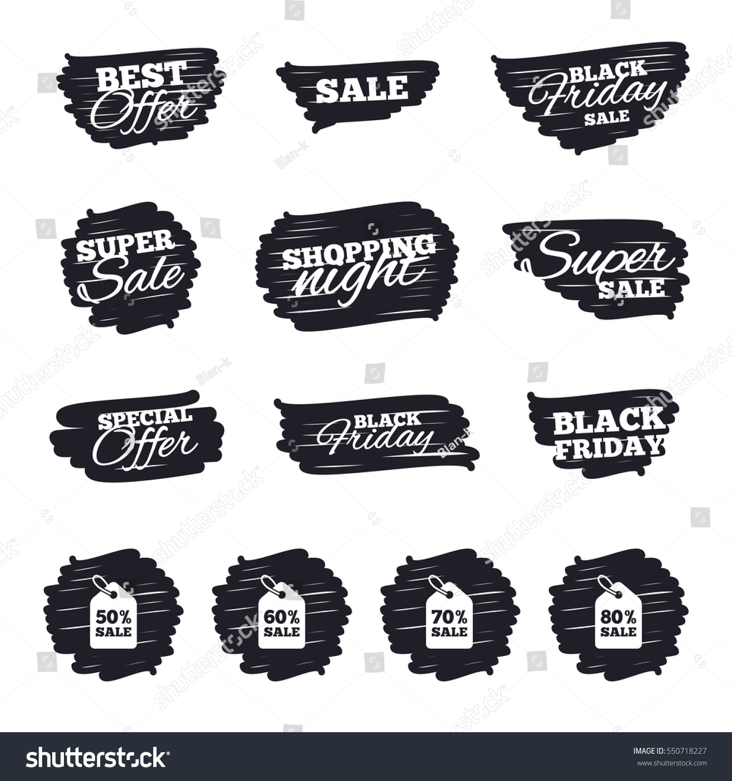 Ink brush sale stripes banners sale stock vector 550718227 for Ink sale