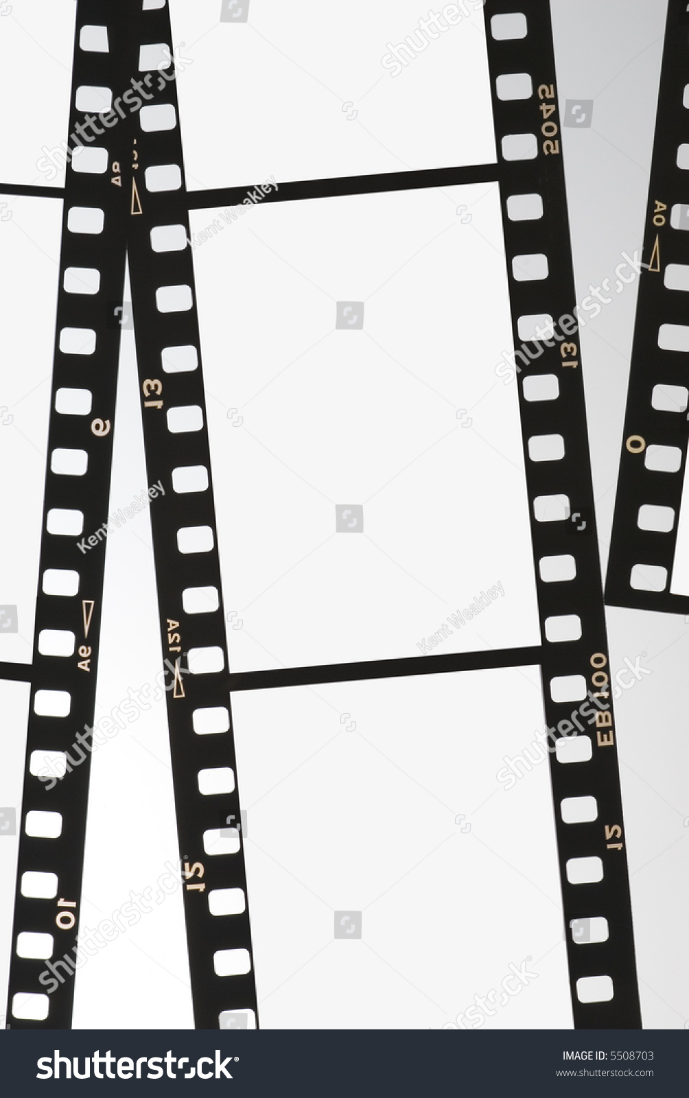 Film Strip Negative Background Panel 35mm Series 02 Stock ...