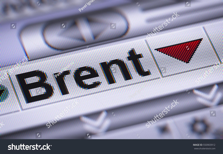 Brent Crude Oil Down Stock Illustration 550903912 Shutterstock