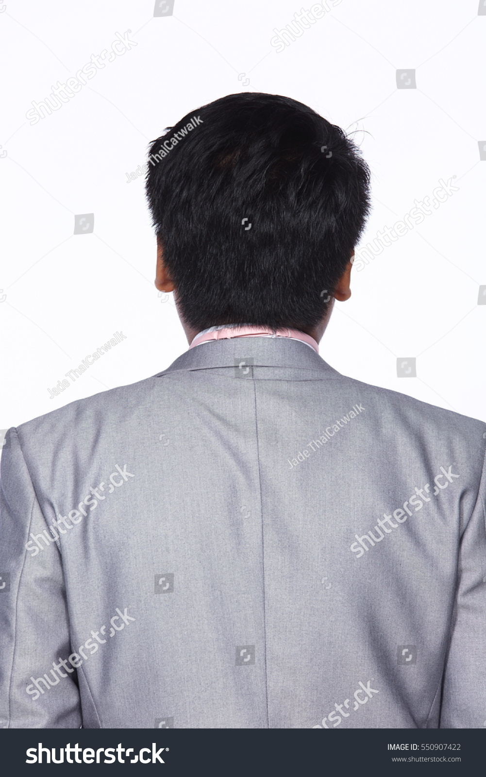 Back Side Man After Hair Style Stock Photo Edit Now 550907422