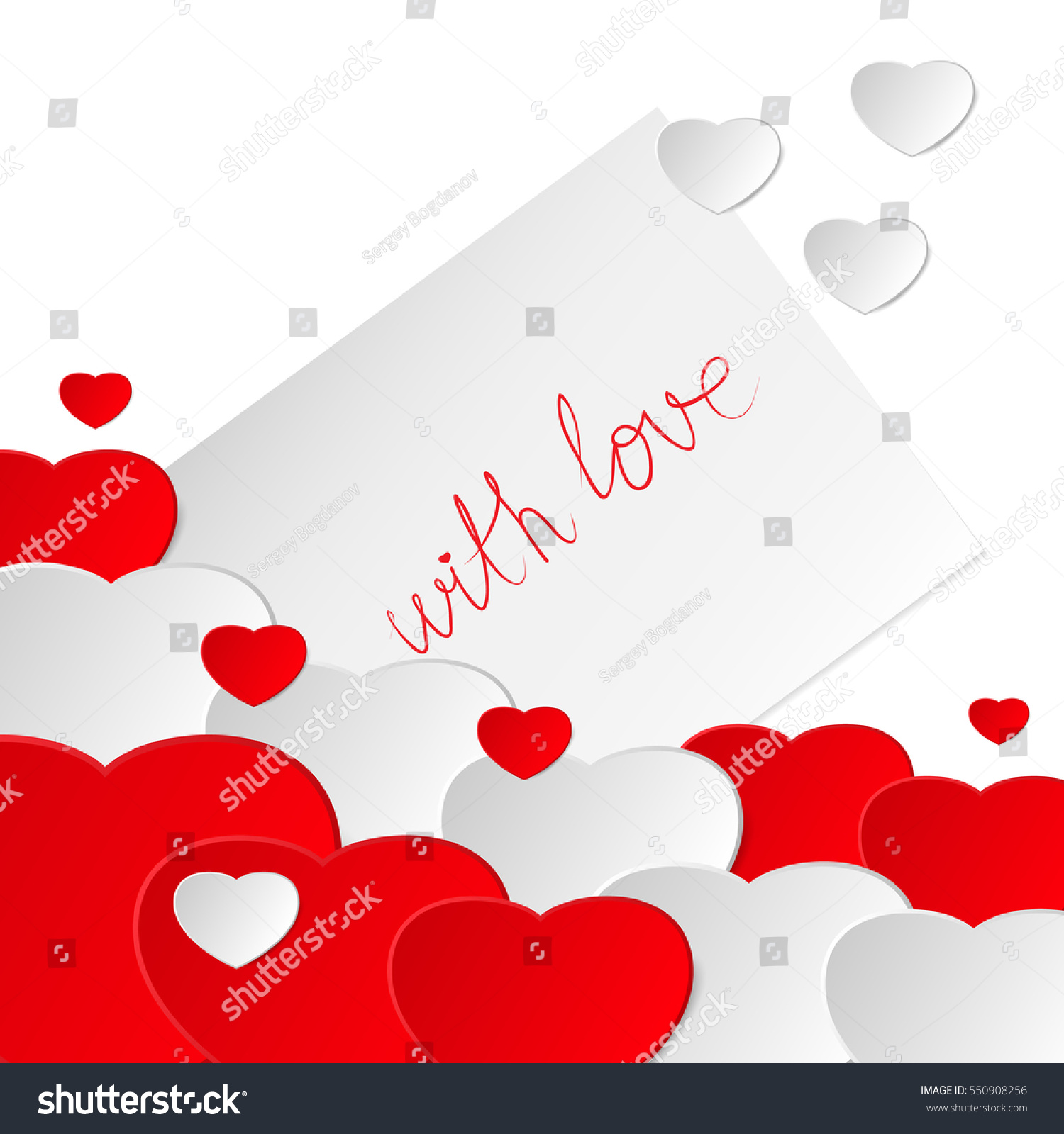 Happy valentines day valentine greeting card stock illustration happy valentines day valentine greeting card with hearts love romantic messages m4hsunfo
