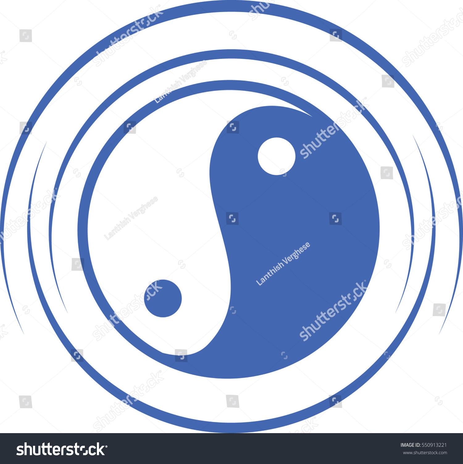 chinese symbol yin yang stock vector 550913221 shutterstock rh shutterstock com Yin and Yang Meaning Yin Yang Symbol Lightning