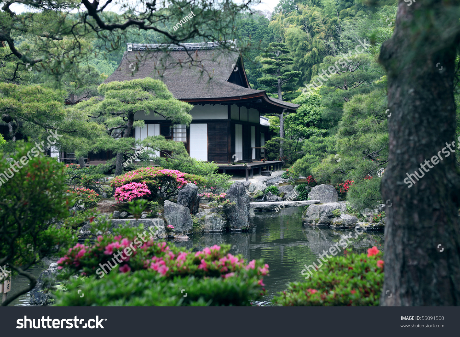 Japanese Landscape Architecture Japanese Landscape Garden Stock Photo 55091560 Shutterstock