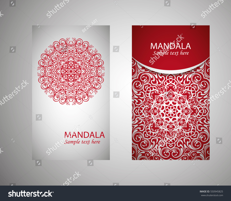 Flyer Flyer Cover Pattern Mandala Oriental Stock Vector 550945825 ...