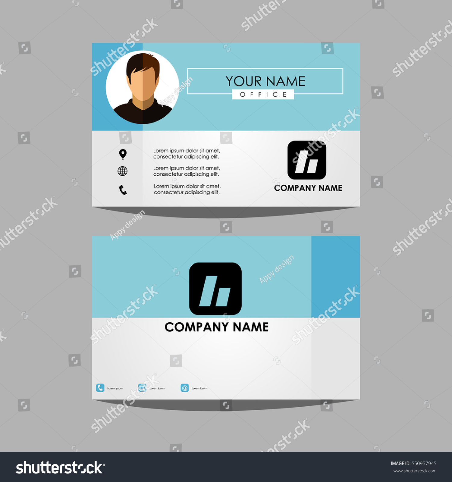 Layout Template Id Card Business Personal Stock Vector