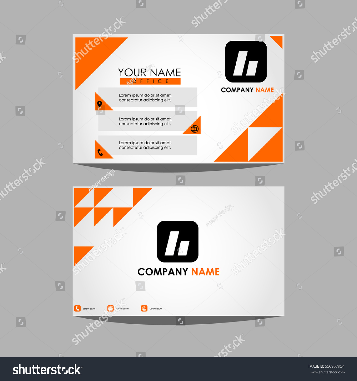 Layout template id card business personal stock vector 550957954 layout template id card for business in personal magicingreecefo Image collections