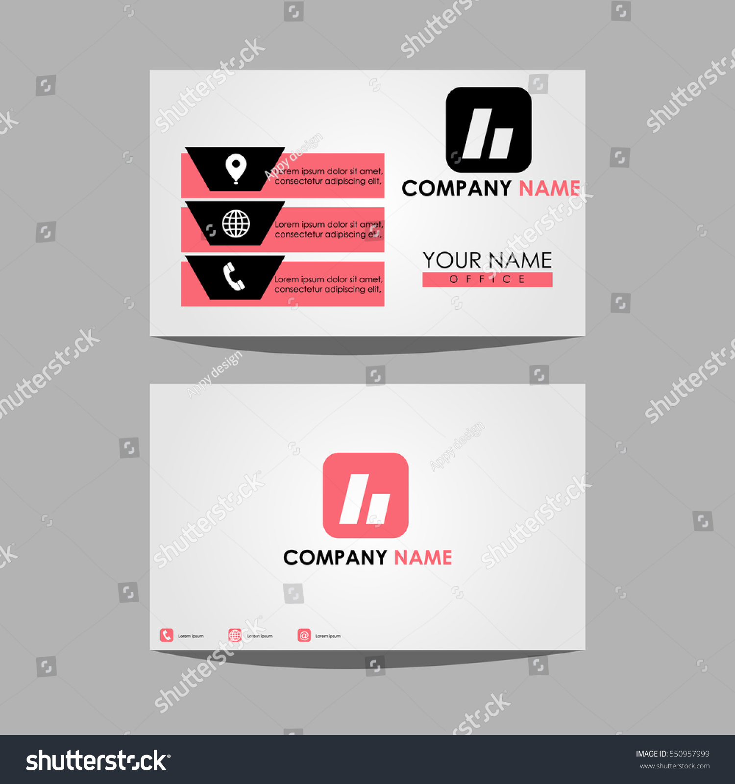 Layout Template Id Card Business Personal Stock Vector 550957999 ...