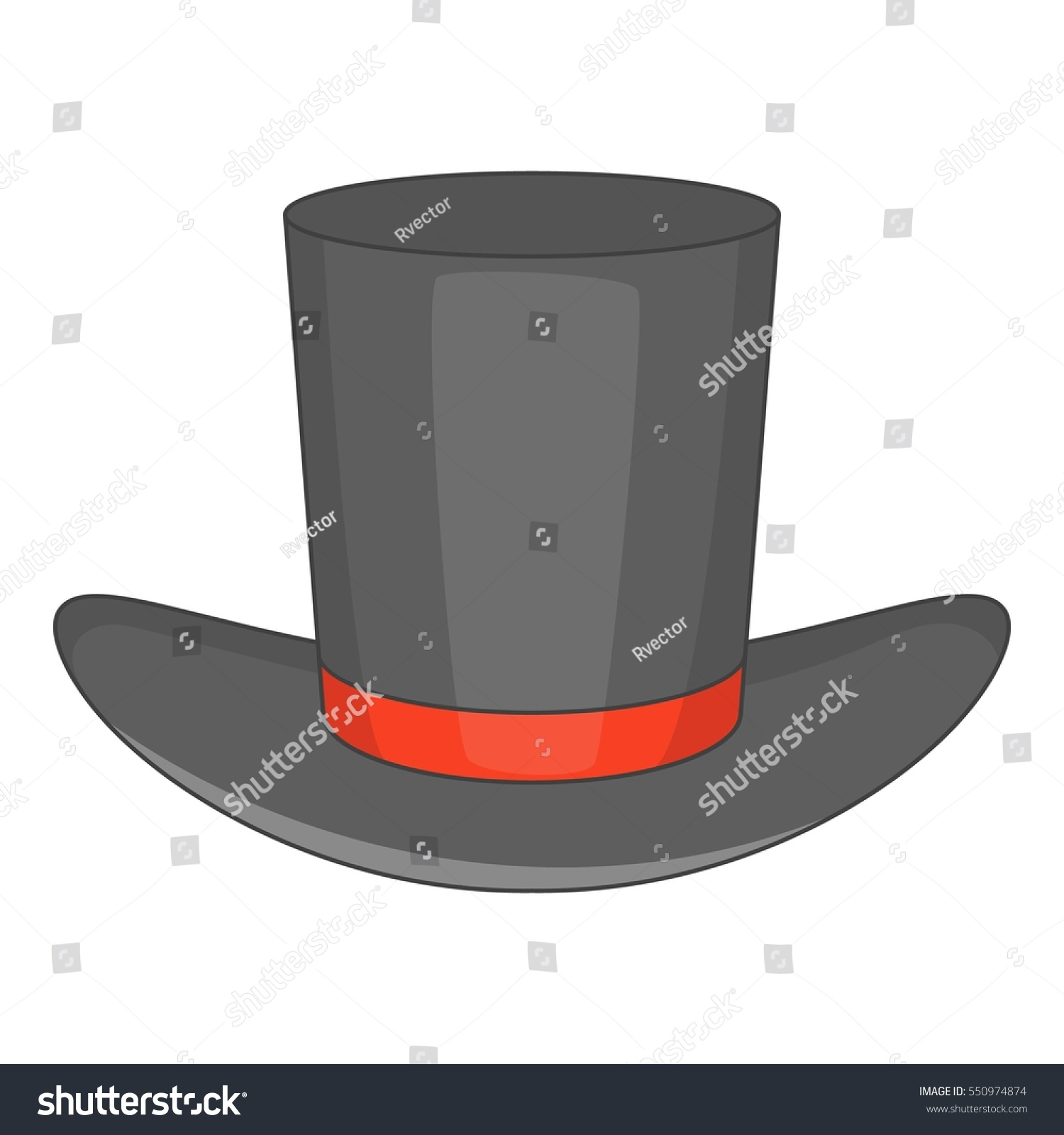 cartoon illustration gentleman hat vector icon stock vector 550974874 shutterstock. Black Bedroom Furniture Sets. Home Design Ideas