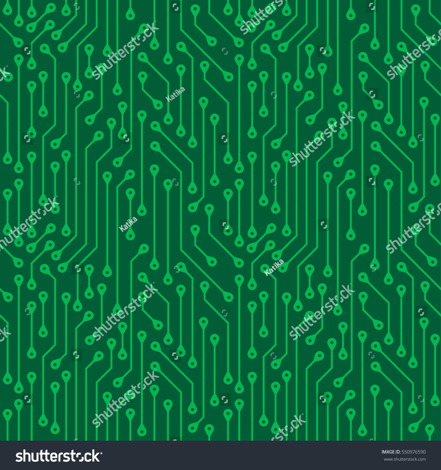 Green Seamless Pattern Electronic Boards Abstract Stock Vector Components Wallpaper Of Background Digital
