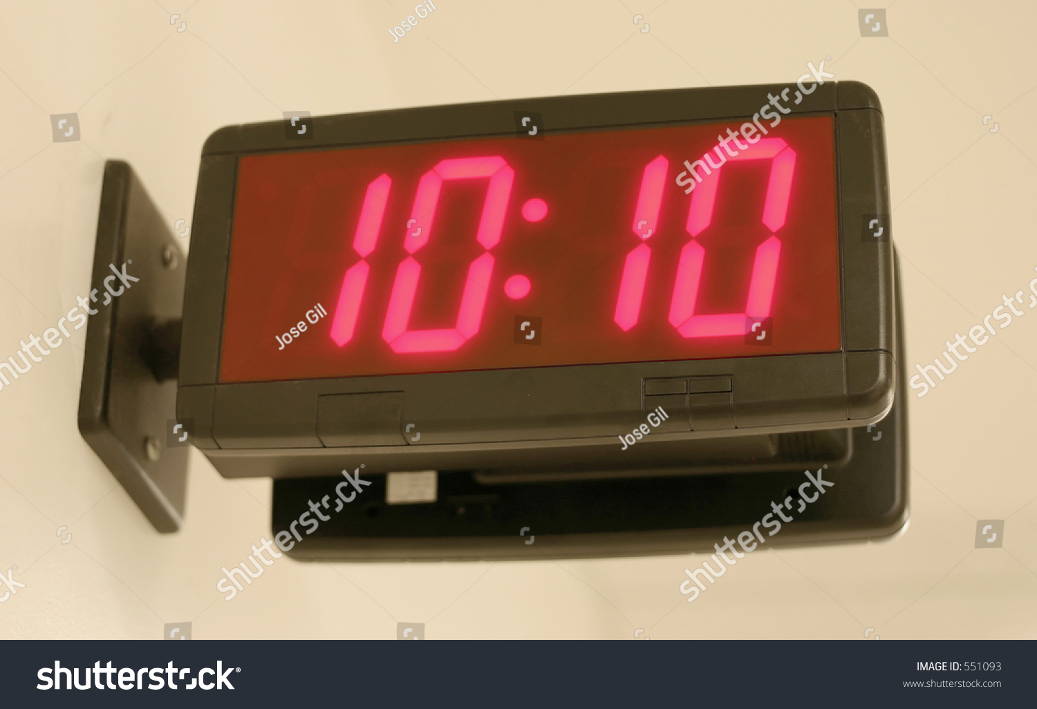 Wall mounted digital clock displaying 1010 stock photo 551093 wall mounted digital clock displaying 1010 amipublicfo Image collections