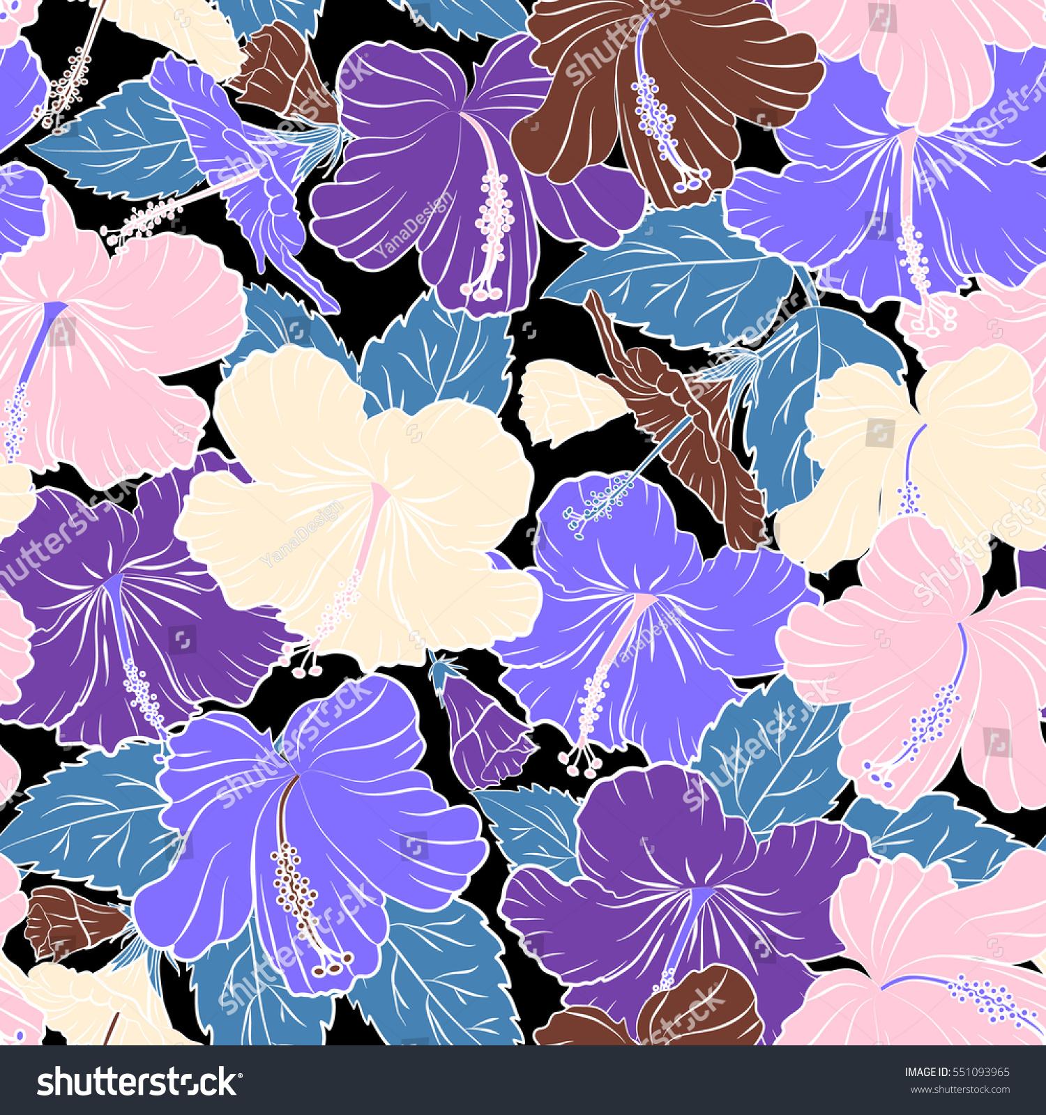 Various hibiscus hawaiian tropical flowers in brown and violet id 551093965 izmirmasajfo