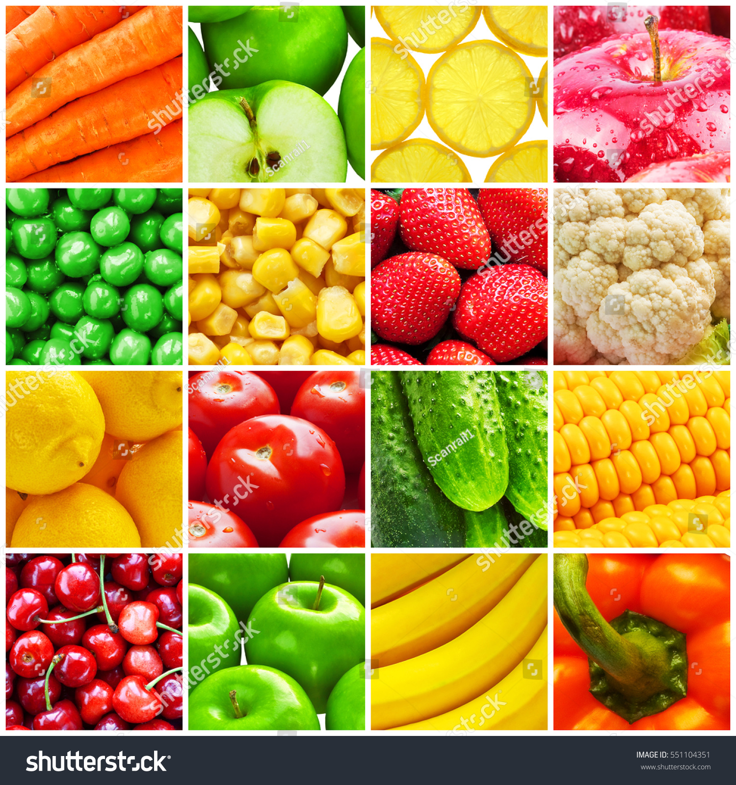 Eating and health - Healthy Life Eating And Health Food Vitamin Concept Collage From Fresh Fruits And Vegetables