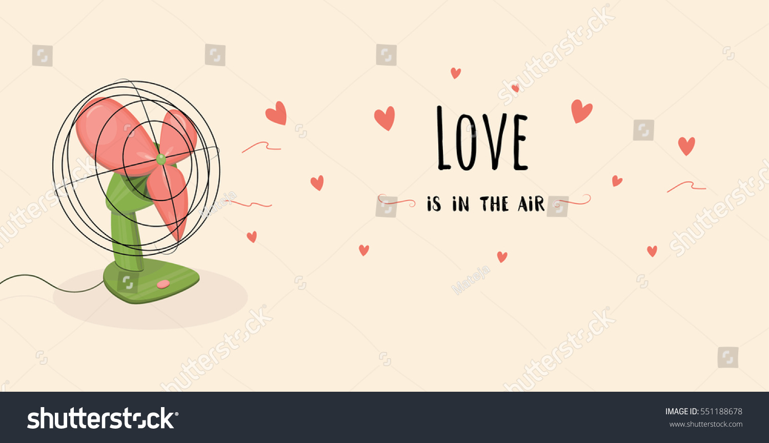 Valentines Day Love Air Inspirational Illustration Stock Vector