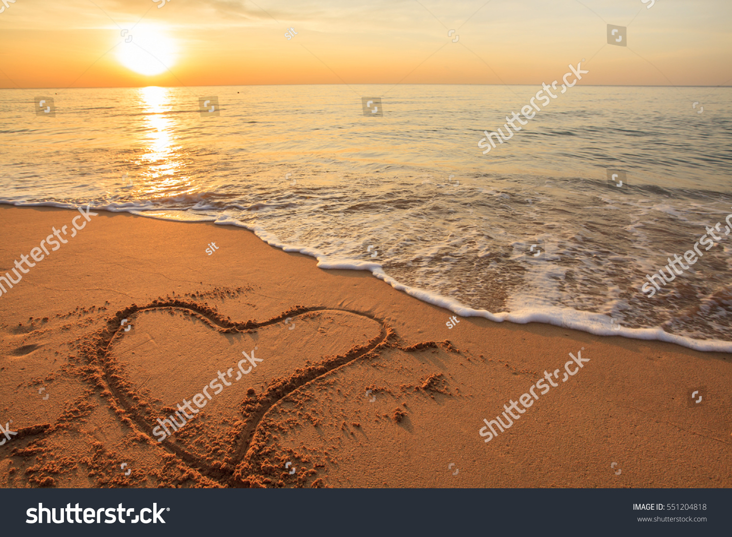 Happy Valentines Day Beach Morning New Stock Photo Edit Now