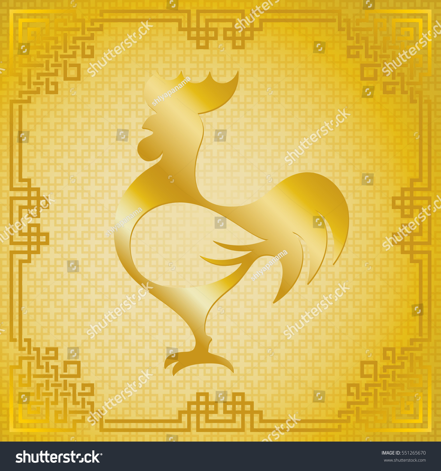 Vector illustration gold rooster animal symbol stock vector vector illustration of gold rooster animal symbol of chinese new year 2017 silhouette with buycottarizona