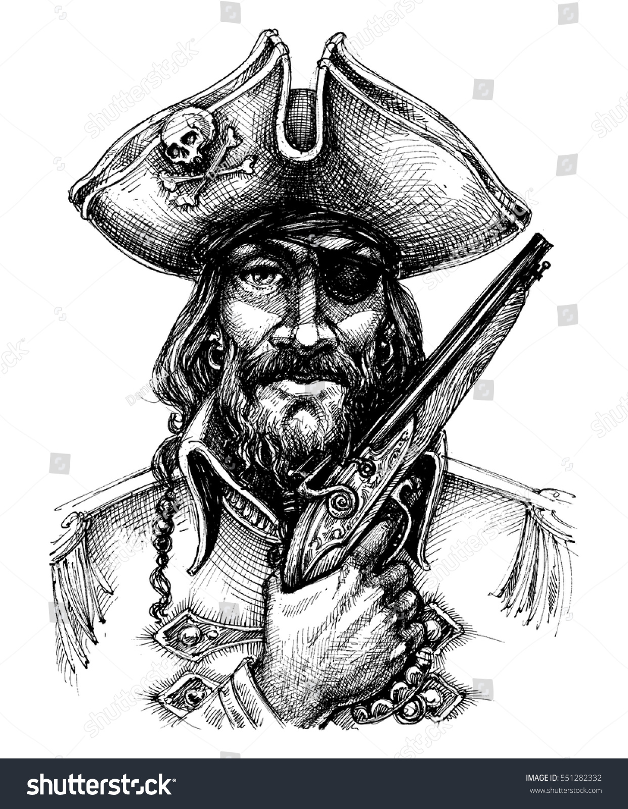 how to draw a pirate hat