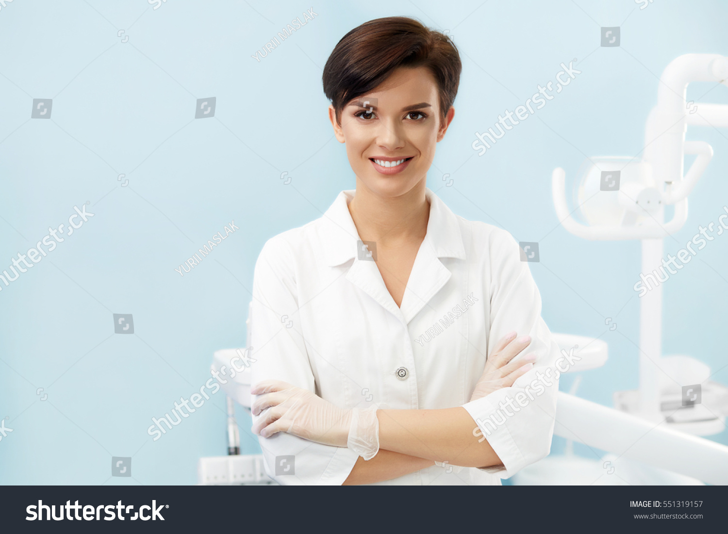 Young Female Doctor Dentist Officebeautiful Smiling Stock Photo ...