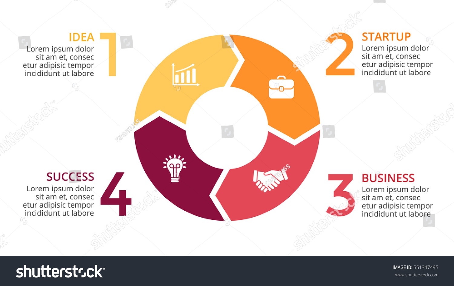 Process cycling arrow by arrow royalty free stock images image - Vector Circle Arrows Infographic Cycle Diagram Graph Presentation Chart Business Concept With
