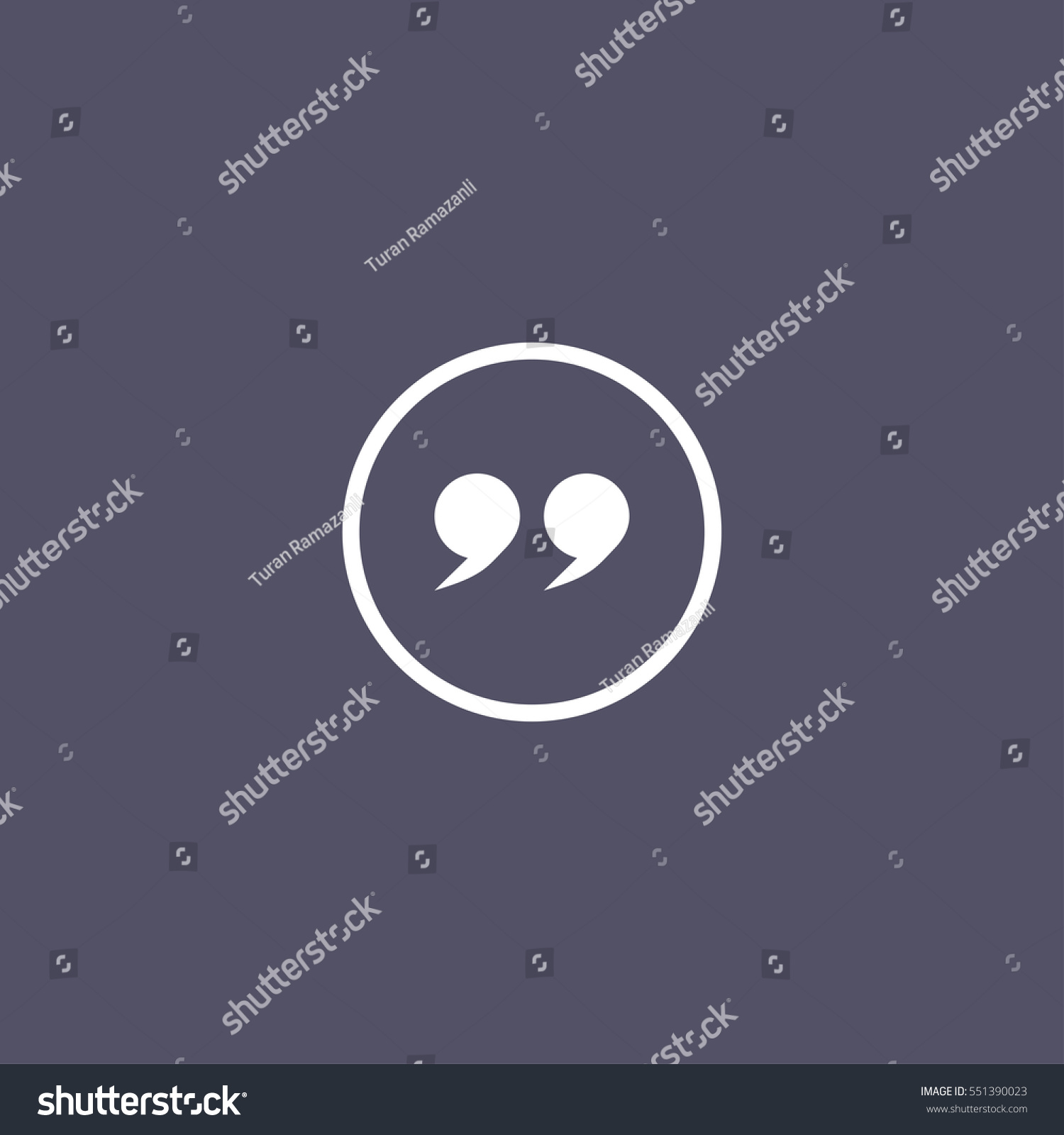 Simple Quotes Simple Quotes Icon Stock Vector 551390023  Shutterstock