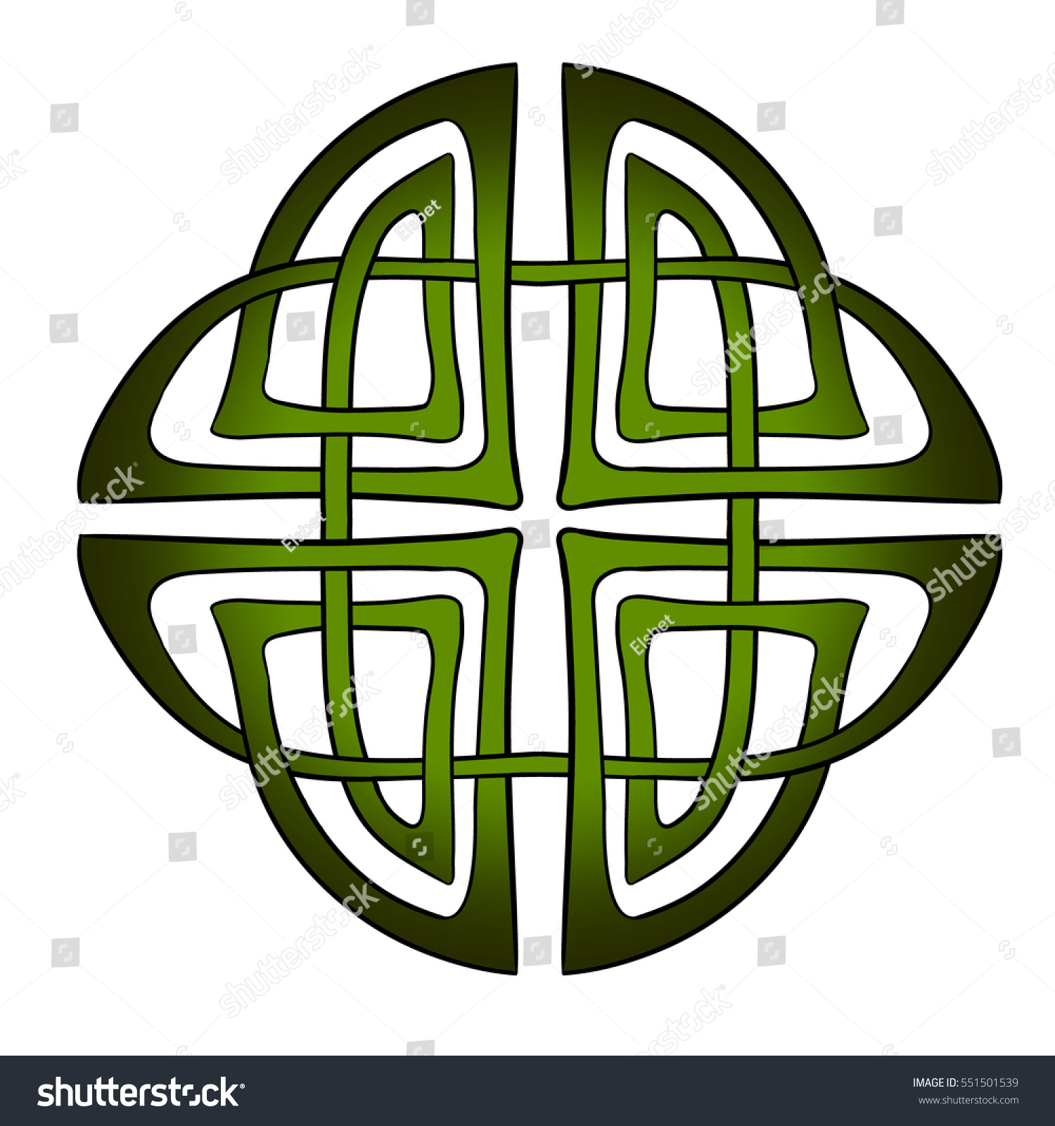Abstract vector celtic irish scottish knot stock vector 551501539 abstract vector celtic irish or scottish knot traditional ornament design element green buycottarizona