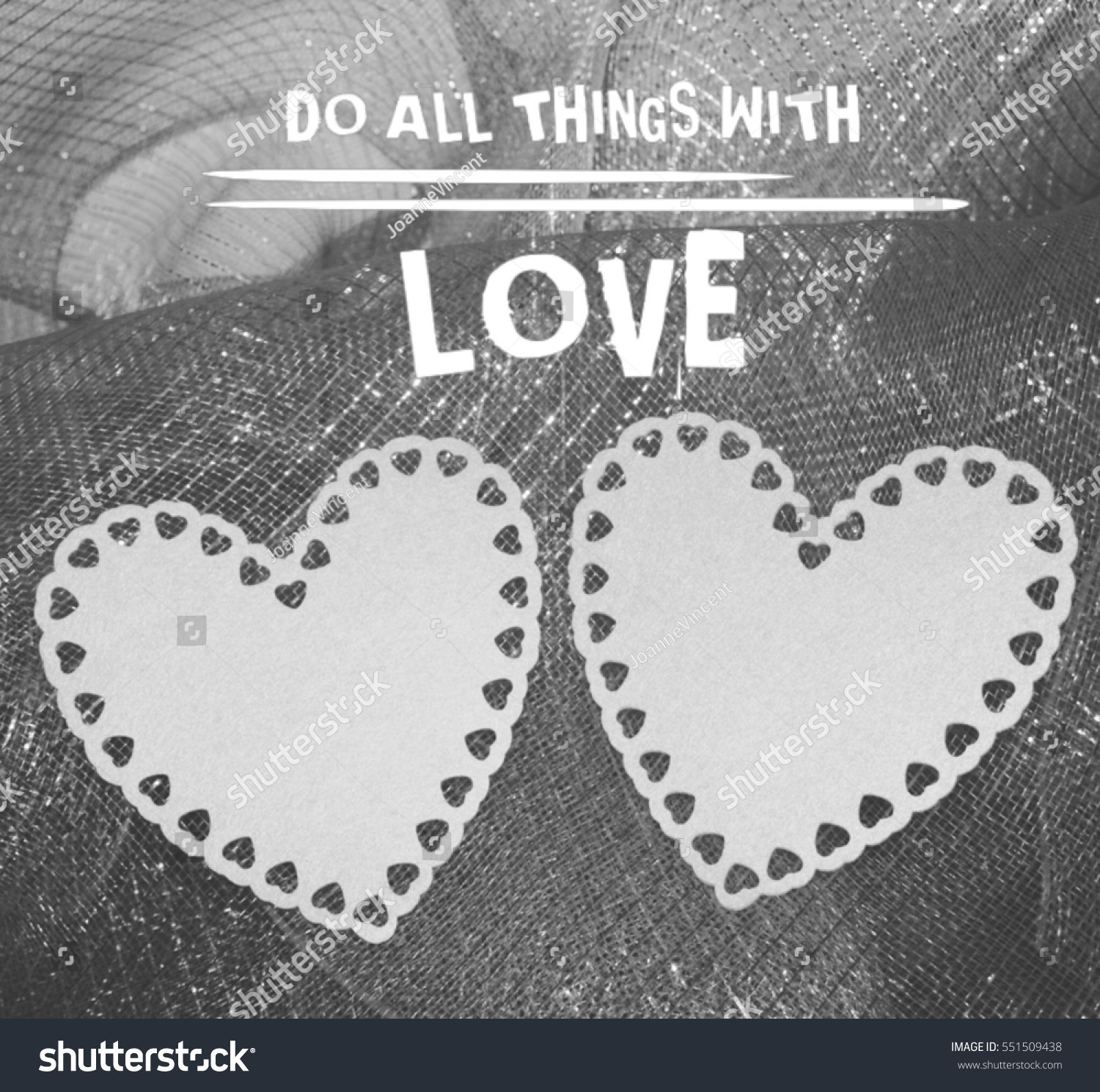 Two White Hearts Displayed On Black Stock Photo Edit Now 551509438