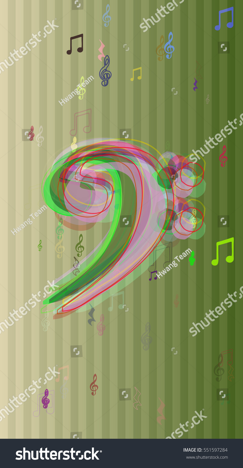 Thin Form Wallpaper Dream Above Colorful Stock Vector Royalty Free