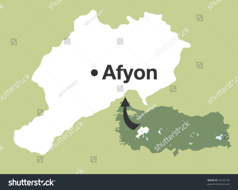 Afyon Cities Turkey Stock Vector HD Royalty Free 55162150