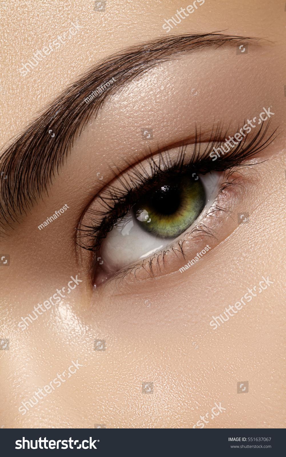 Beautiful Macro Shot Female Eye Classic Stock Photo Edit Now