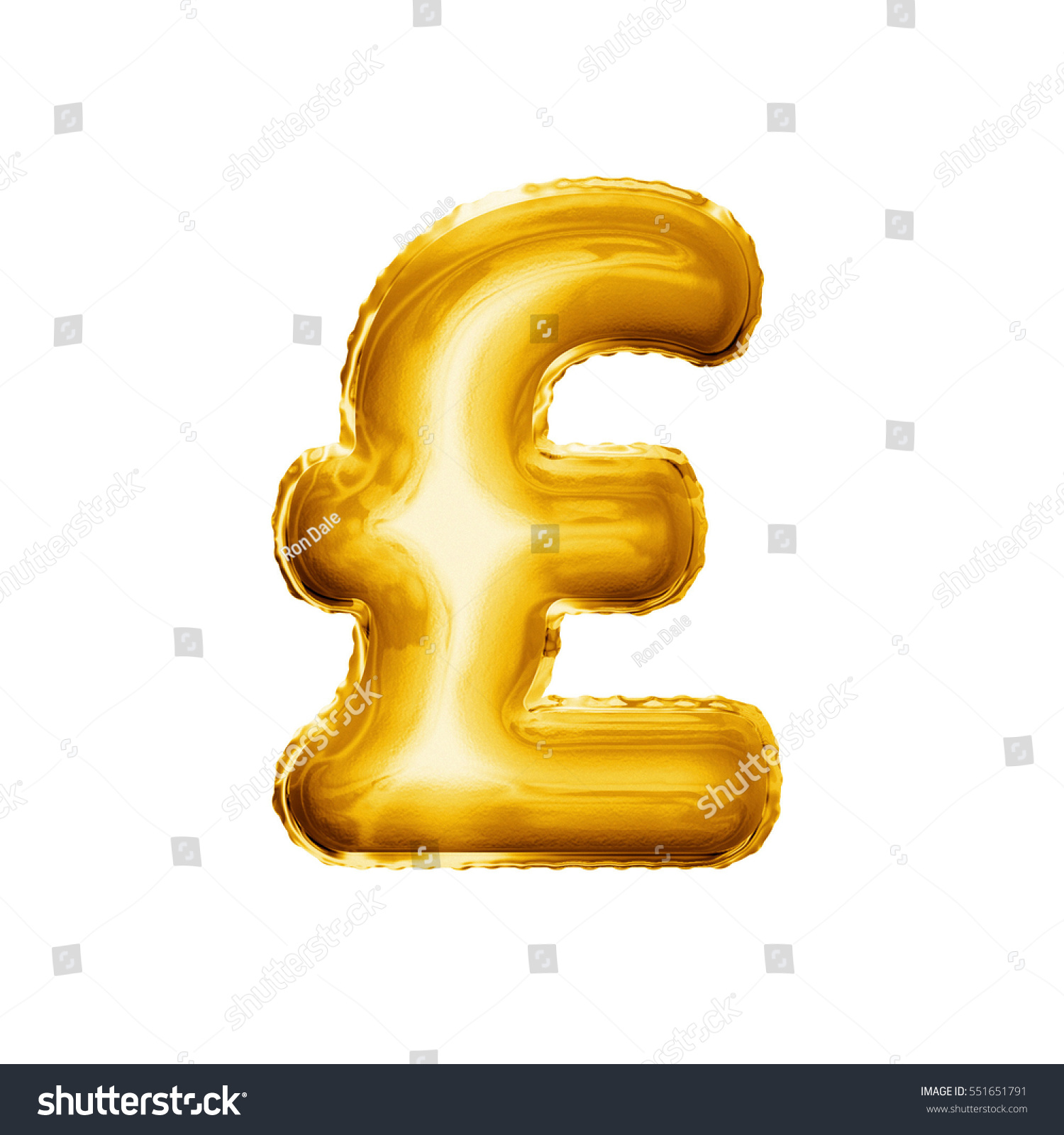 Balloon Pound Currency Symbol Realistic 3 D Stock Illustration
