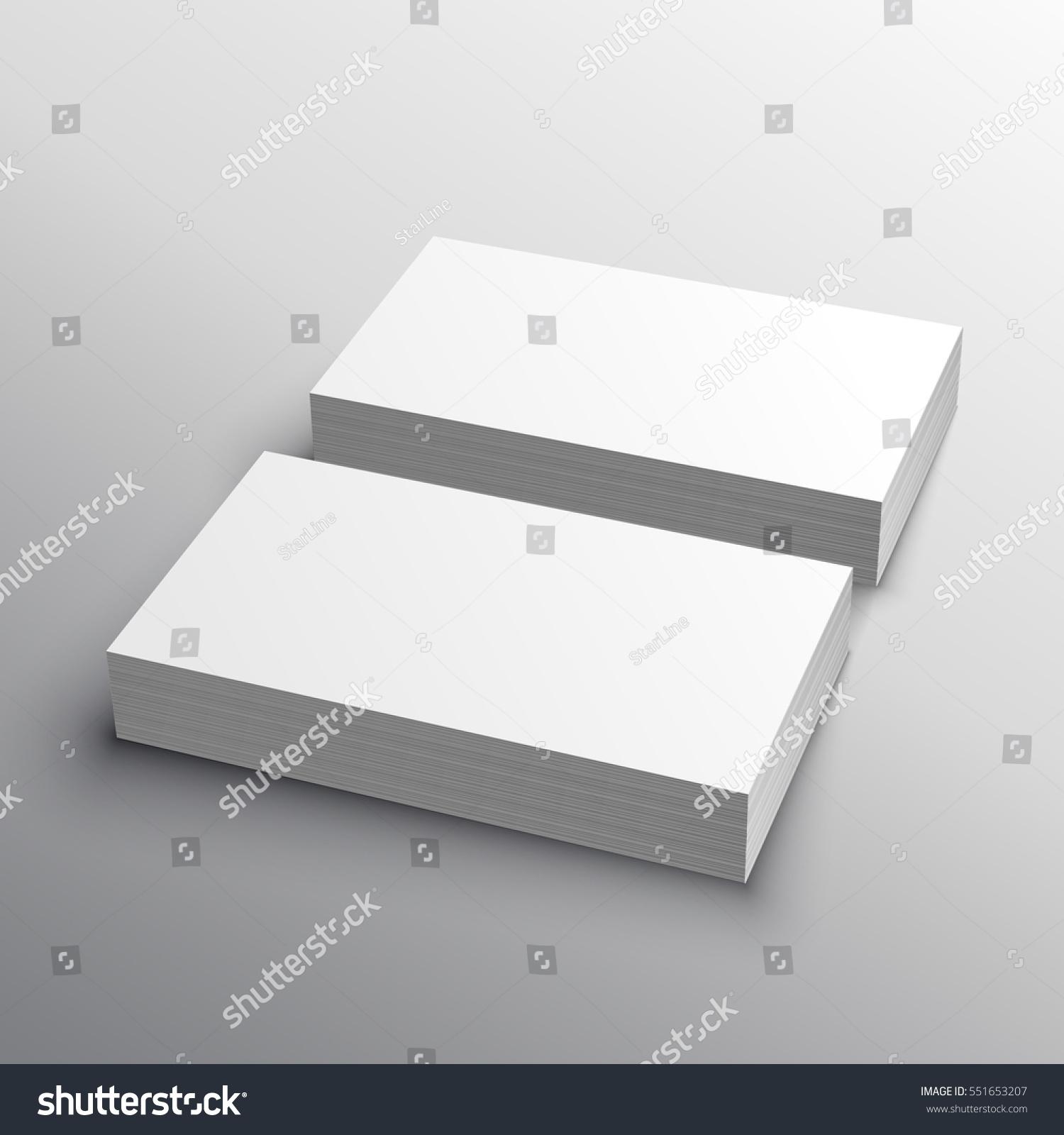 business card mockup presentation display stock vector