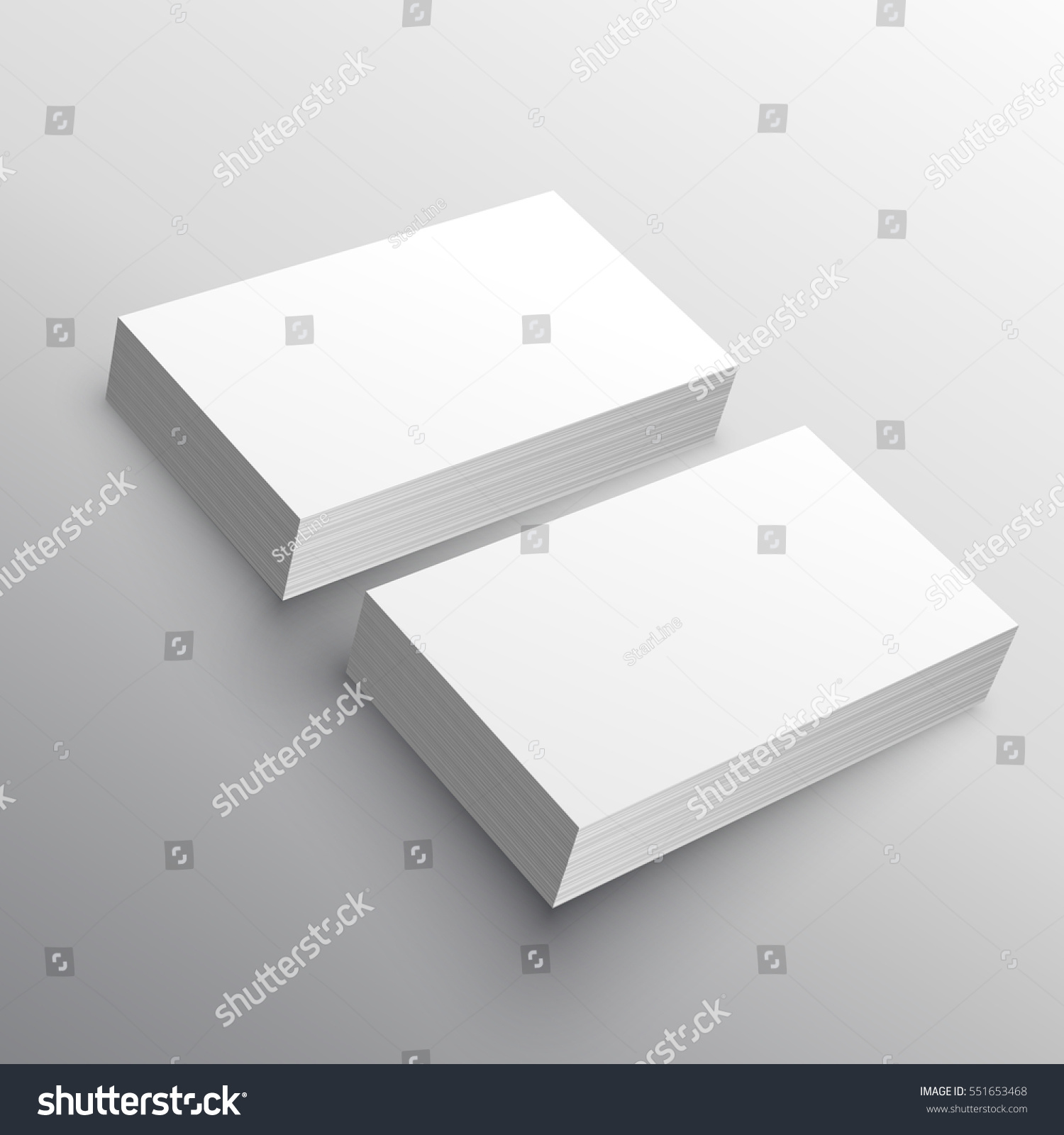 business card presentation mockup template stock vector