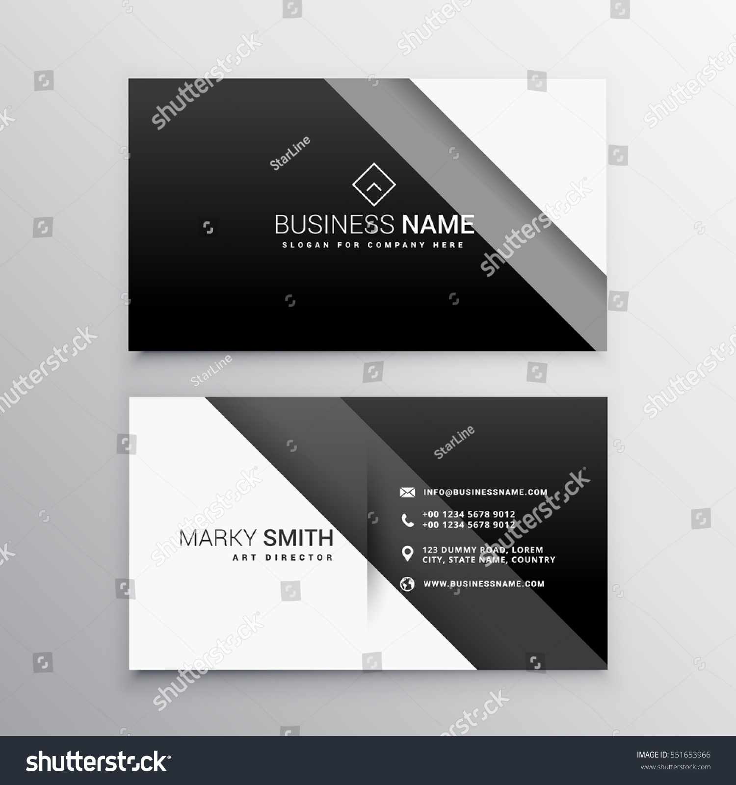 Black white minimal business card stock vector 551653966 black and white minimal business card magicingreecefo Gallery
