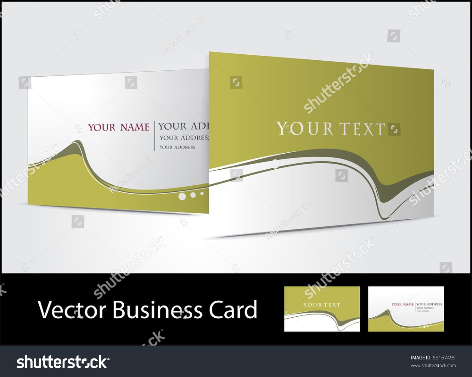 Vector Business Card Set For More Business Card This