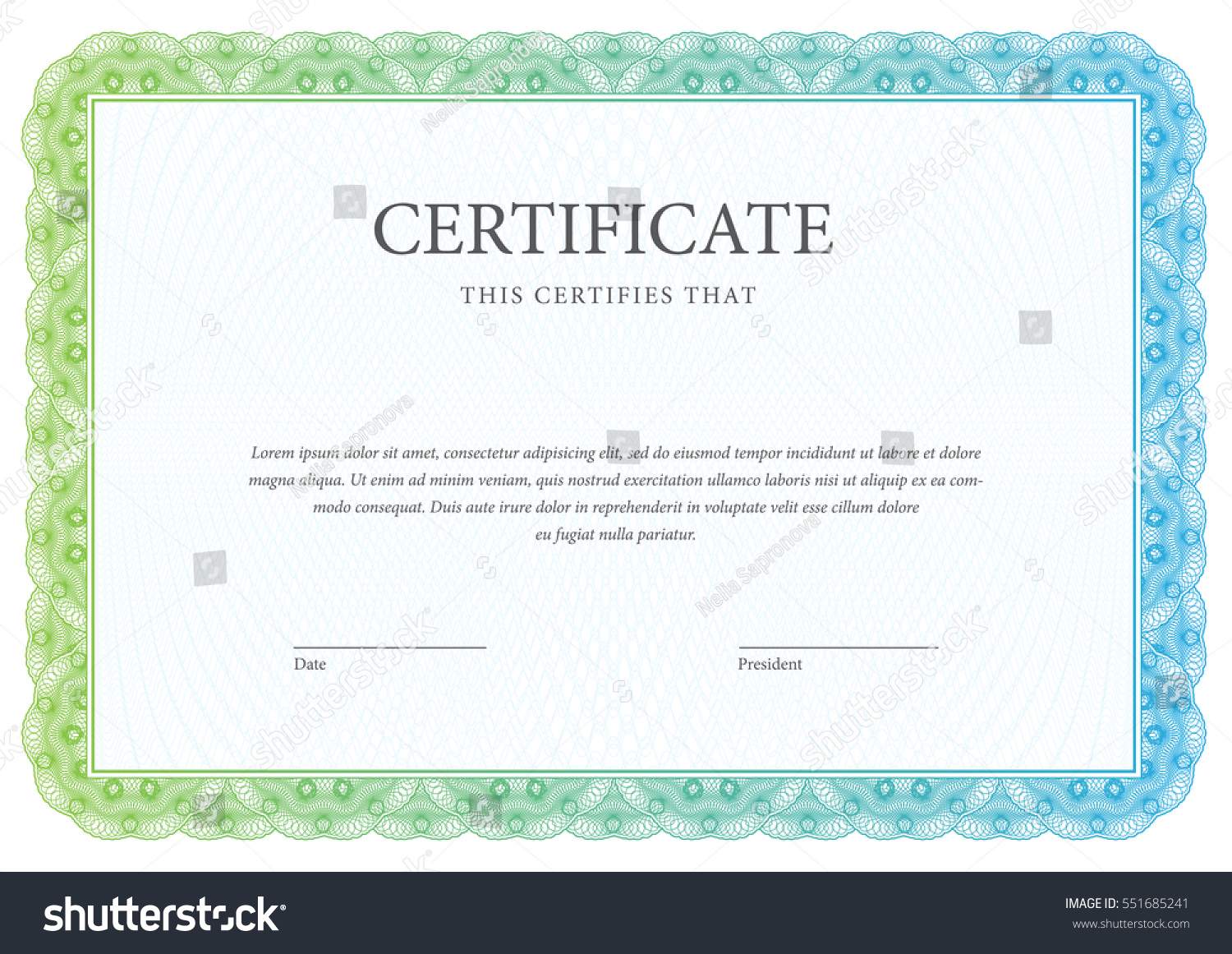 award certificate template border