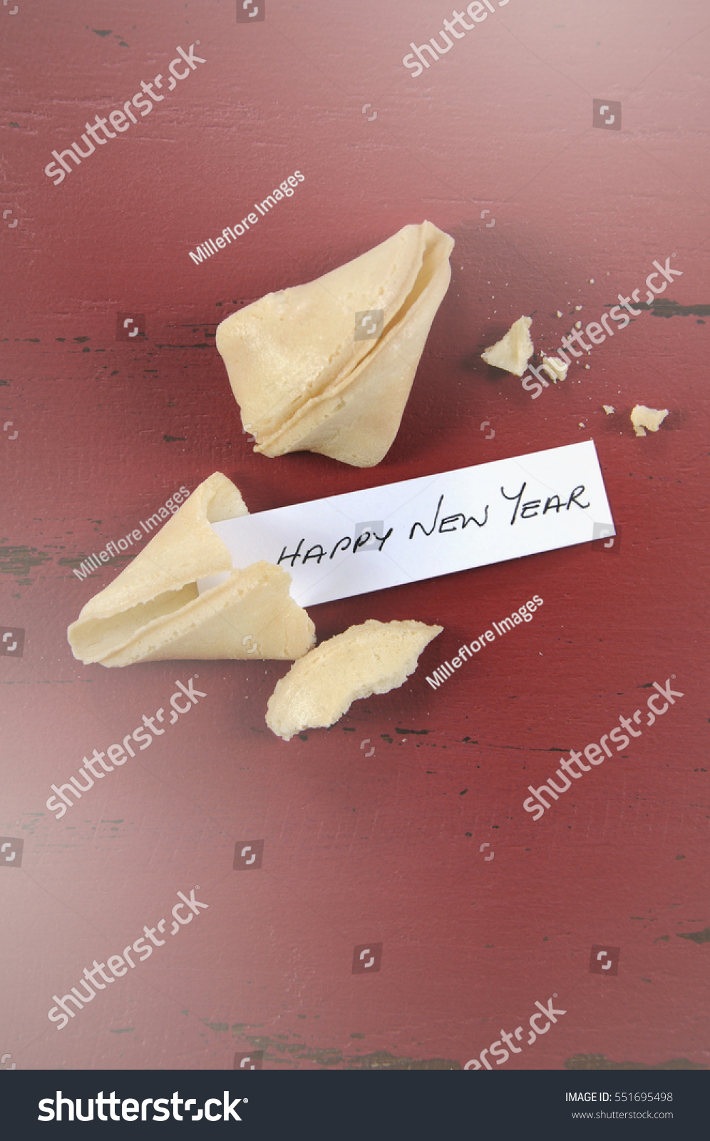 Happy New Year Message Greeting Inside Stock Photo 551695498