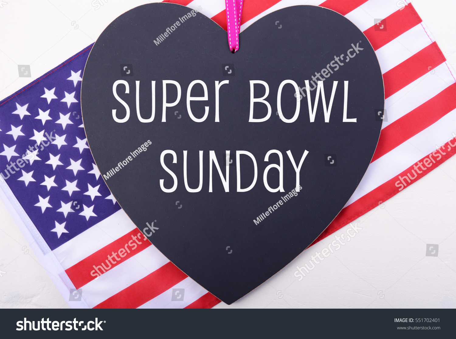 Super Bowl Sunday Playoffs Greeting Message Stock Photo Edit Now