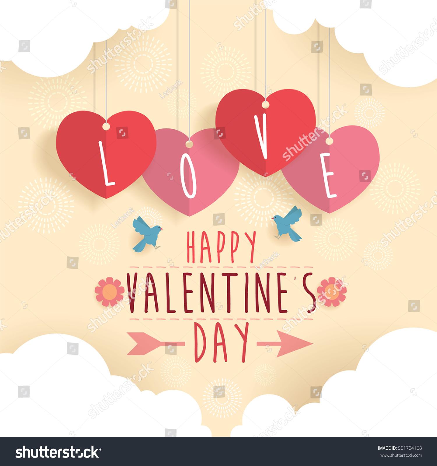 Happy Valentine Day Design Background Vector Stock Vector Royalty