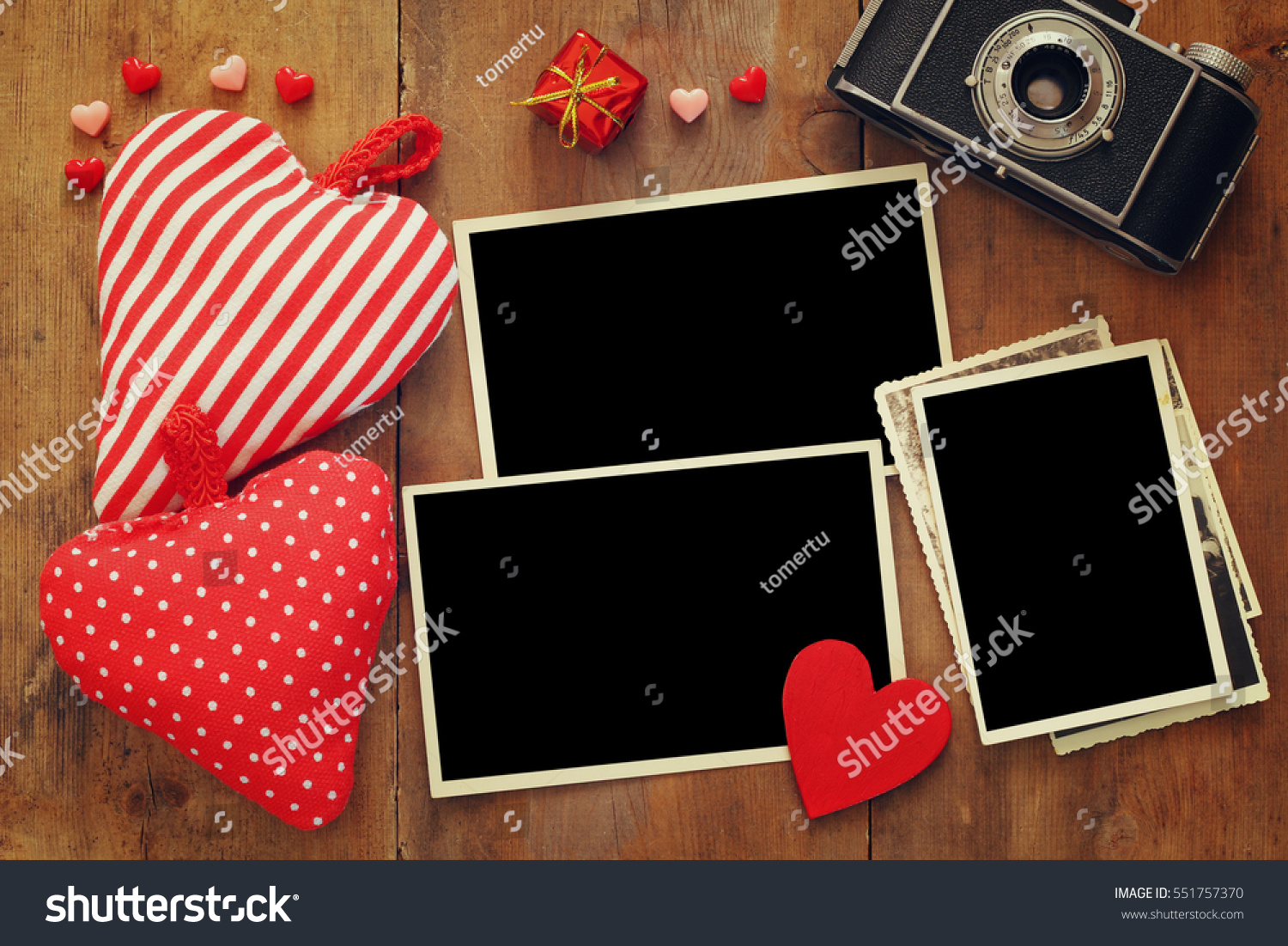 Top View Empty Photo Frames Next Stock Photo (Edit Now)- Shutterstock