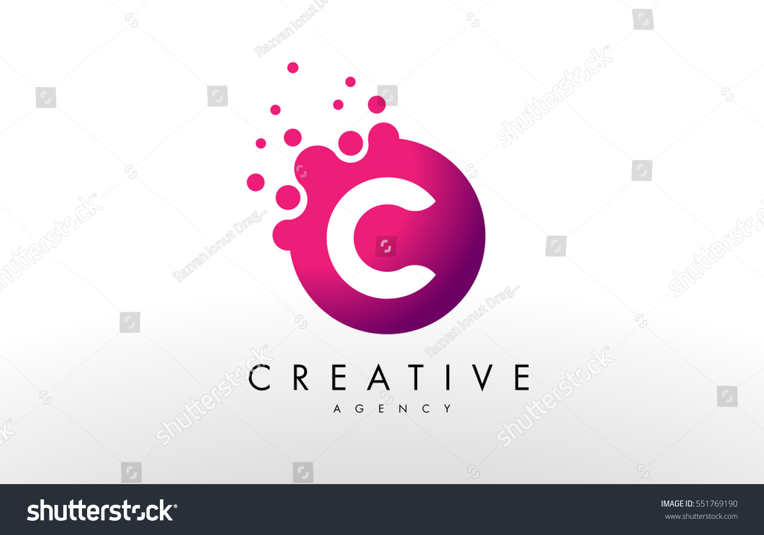 dots letter c logo c letter stock vector 551769190 shutterstock. Black Bedroom Furniture Sets. Home Design Ideas