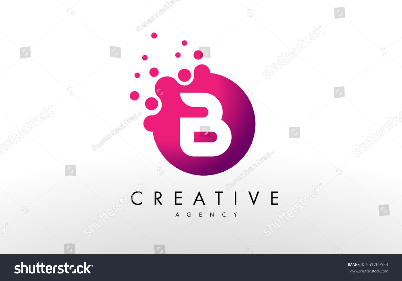 Dots Letter B Logo B Letter Stock Vector (Royalty Free) 551769553 ...
