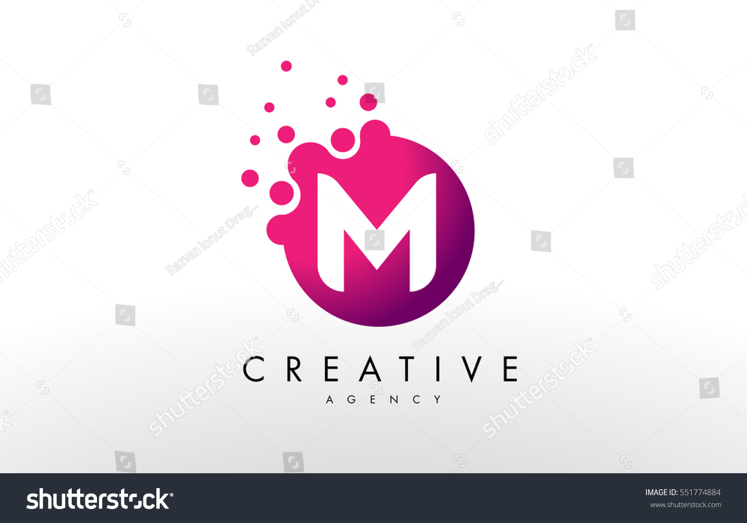 Dots Letter M Logo M Letter Stock Vector (Royalty Free) 551774884 ...