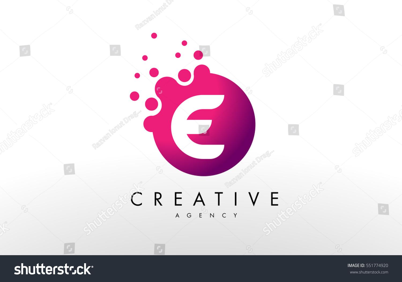 Dots Letter E Logo E Letter Stock Vector (Royalty Free) 551774920 ...