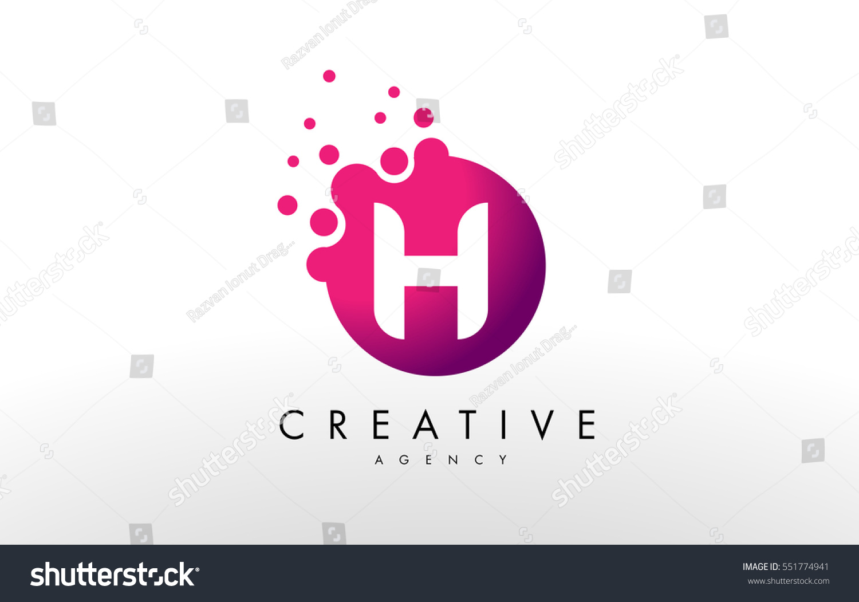 Dots Letter H Logo H Letter Stock Vector (Royalty Free) 551774941 ...