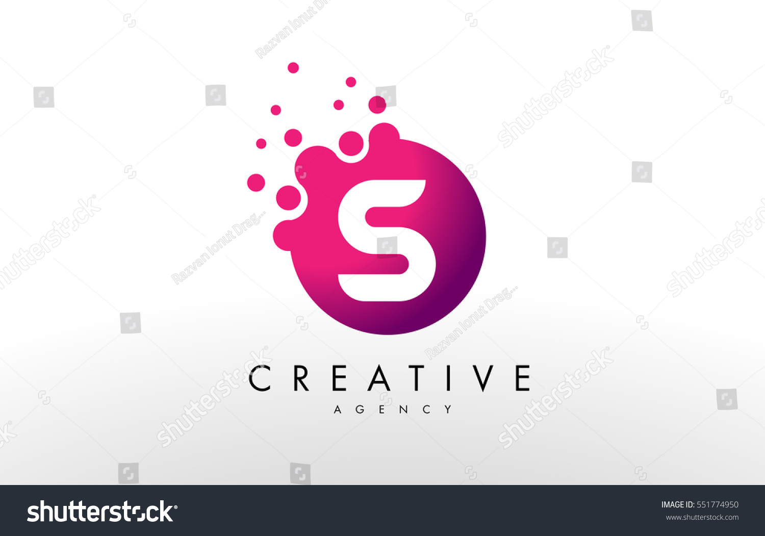 similar images stock photos vectors of dots letter s logo s