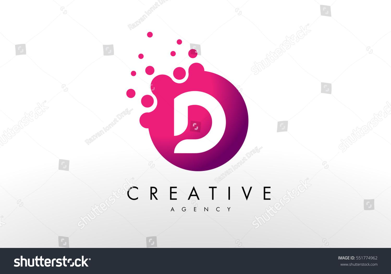 Dots letter d logo d letter stock vector royalty free 551774962 dots letter d logo d letter design vector with dots altavistaventures Gallery