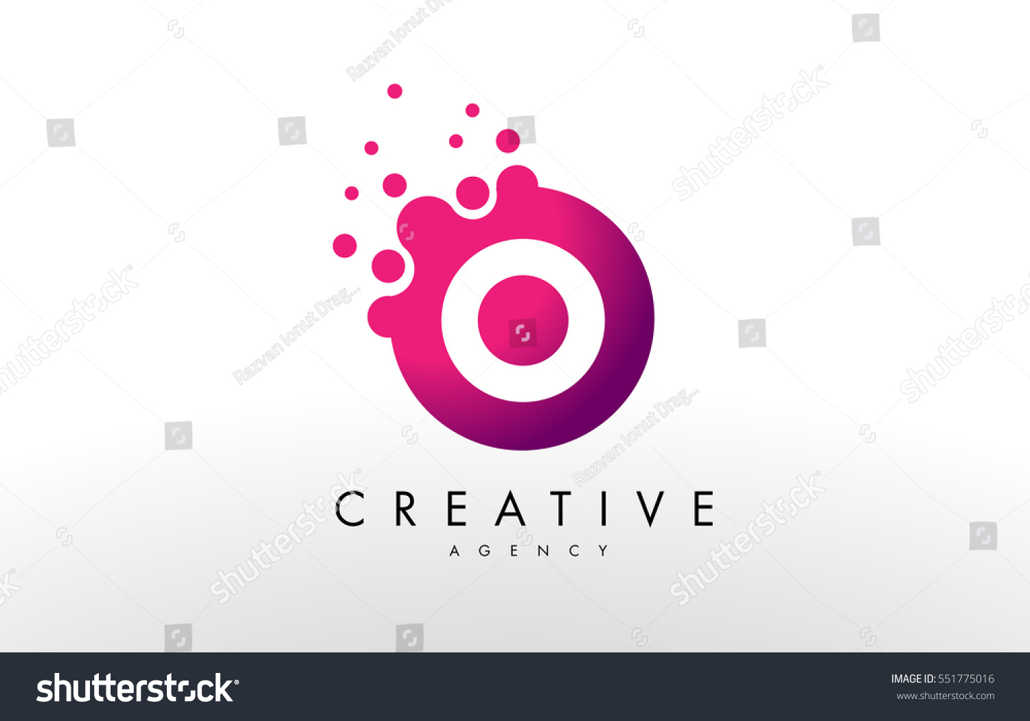Dots Letter O Logo O Letter Stock Vector (Royalty Free) 551775016 ...