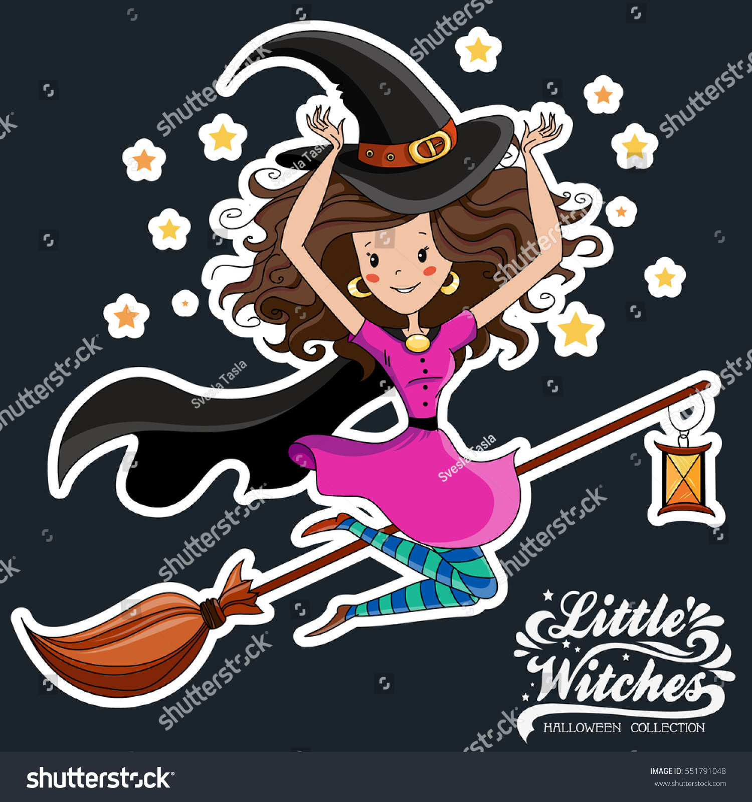 Uncategorized Witch Pictures To Print little witch halloween print on stock vector 551791048 t shirts bags stickers or