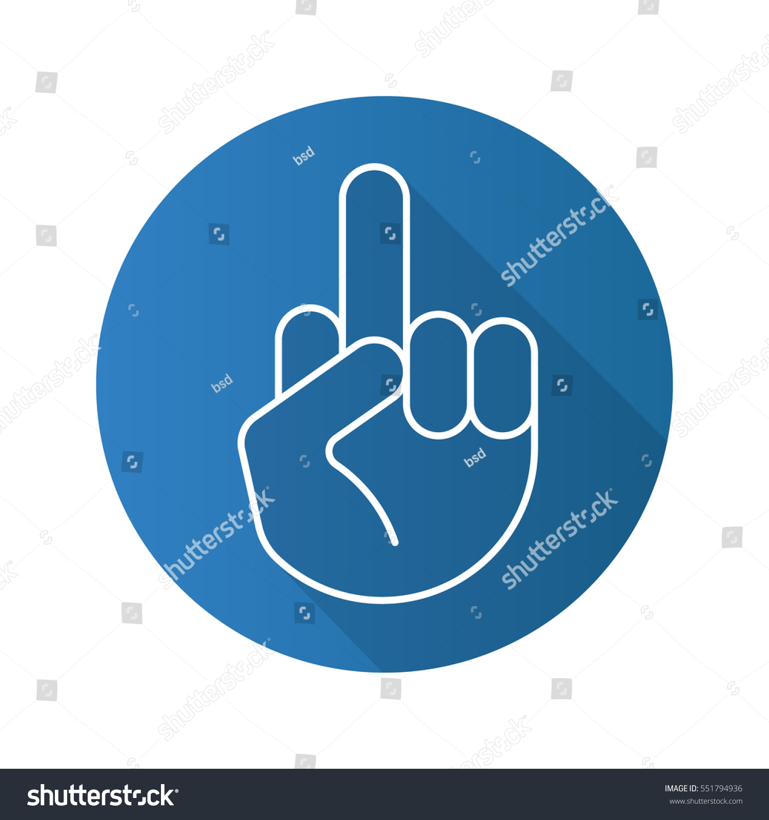 Middle finger up flat linear long stock vector 551794936 middle finger up flat linear long shadow icon flipping hand gesture vector line buycottarizona
