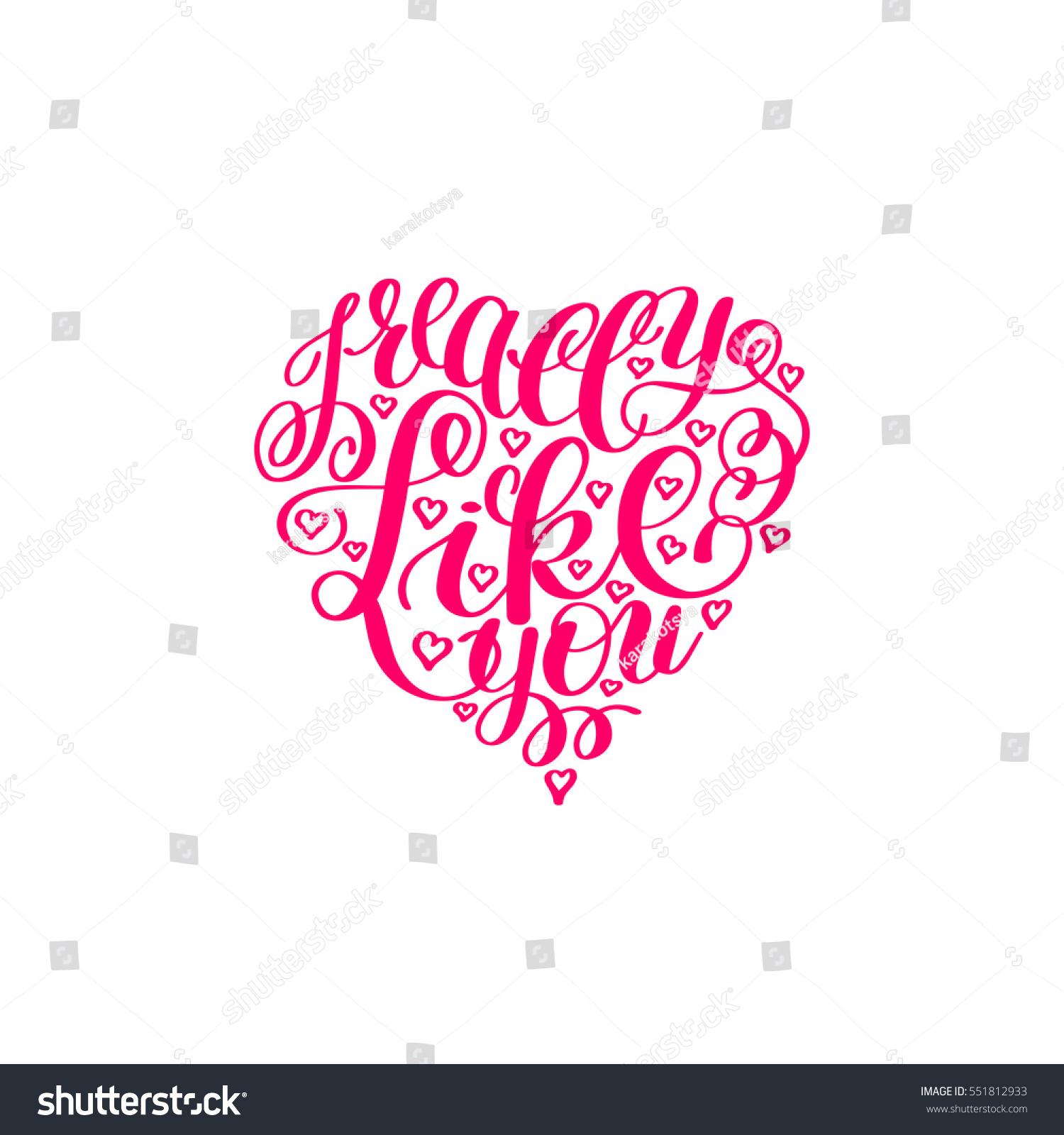 Really Like You Love Letter On Stock Illustration 551812933