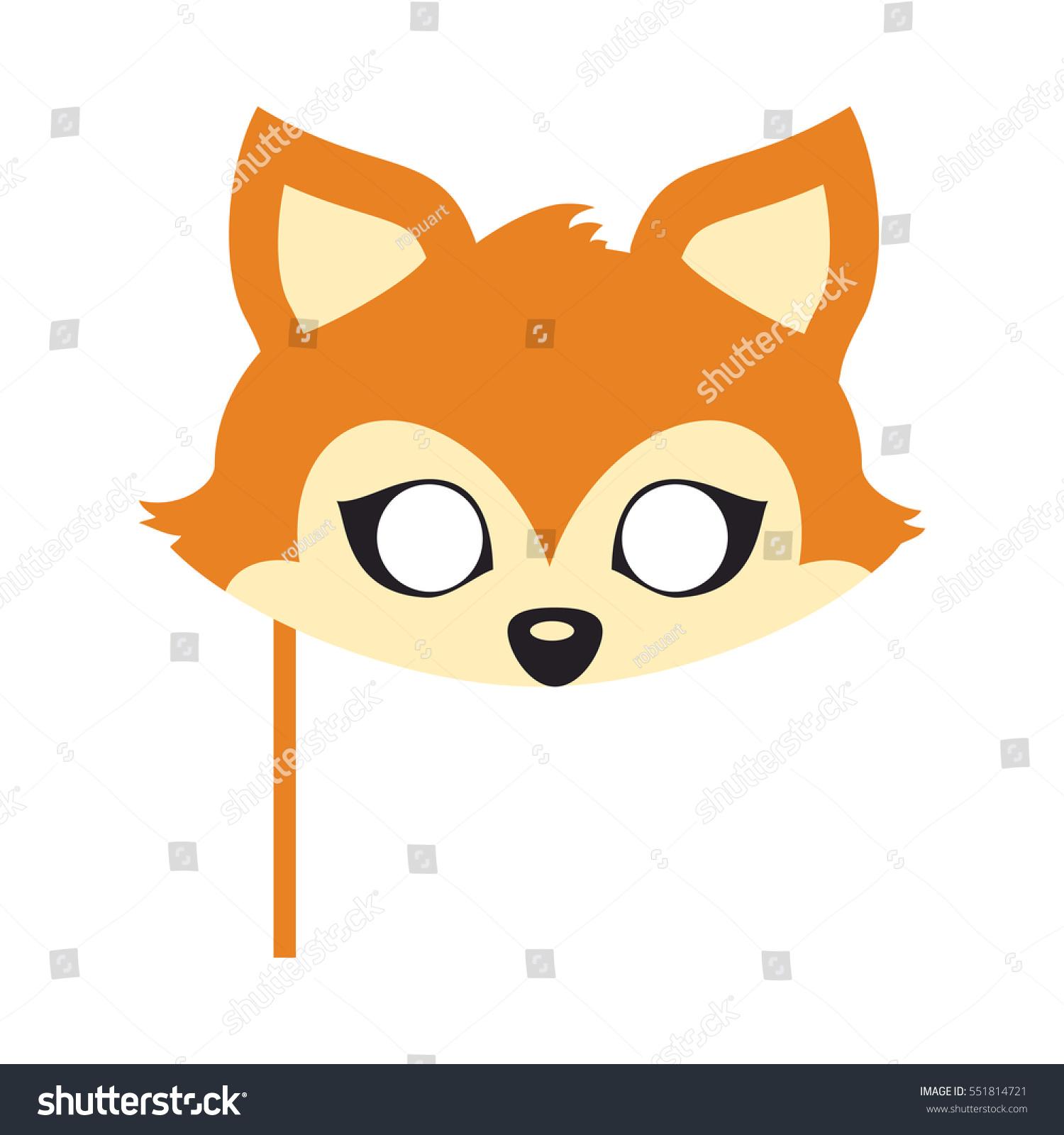 fox animal carnival mask vector illustration stock vector royalty rh shutterstock com Cup Clip Art Chicken Clip Art